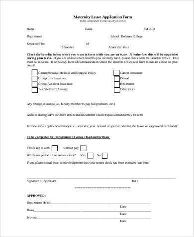 leaving notice letter to employer. application for maternity leave ...
