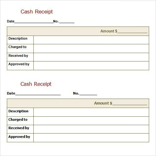 Free Downloadable Cash Receipt Template Sample for Word or Excel ...