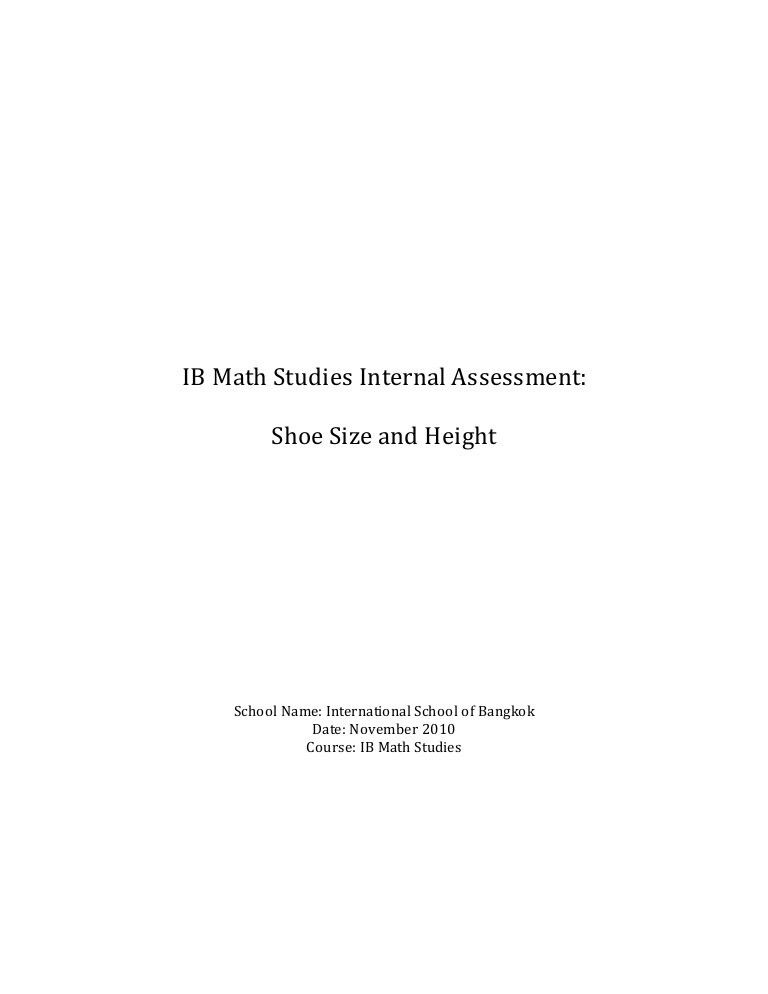 Mathematics- IB Math Studies IA