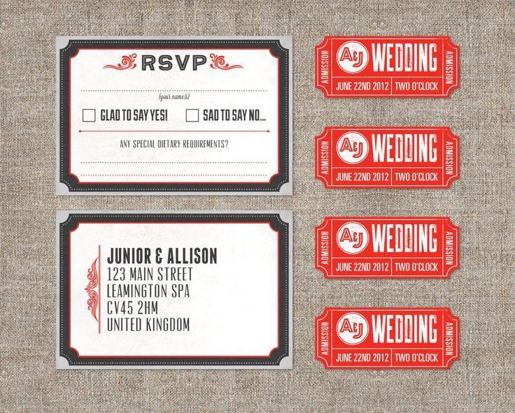 123 best Wedding - Theatre images on Pinterest | Invitation ideas ...