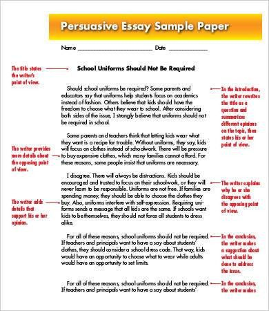 Argumentative essay samples free
