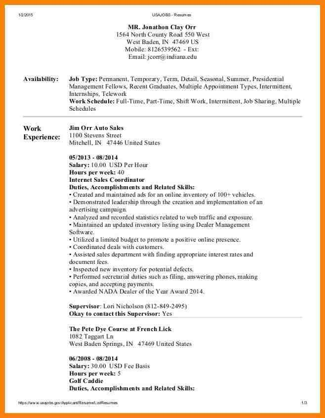 7+ usa jobs resume example | hr cover letter