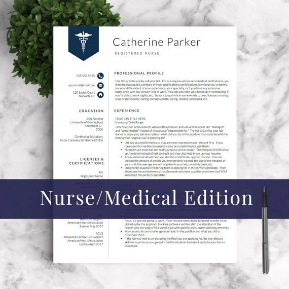 Doctor Resume Template for Word & Pages Nurse Resume Template