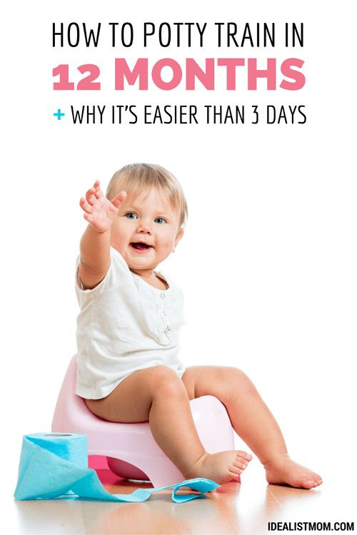 How to Potty Train in 12 Months + Why It's Easier Than 3 Days