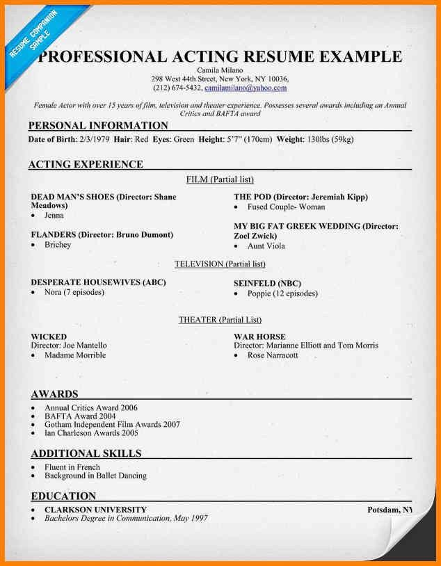 5+ acting resumes examples | cashier resumes
