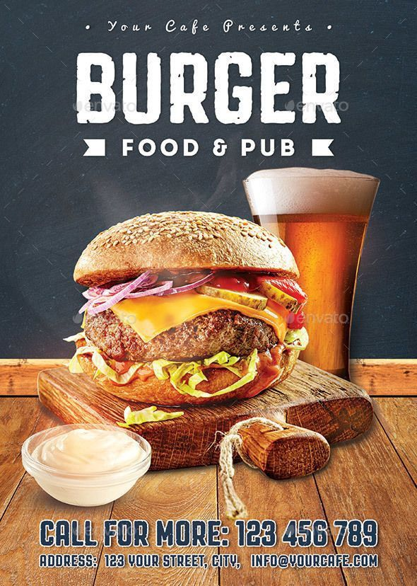 127 best Burger Flyer images on Pinterest | Flyer template ...