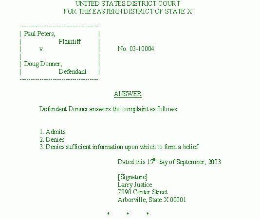 Civil Summons Form | Examples.billybullock.us