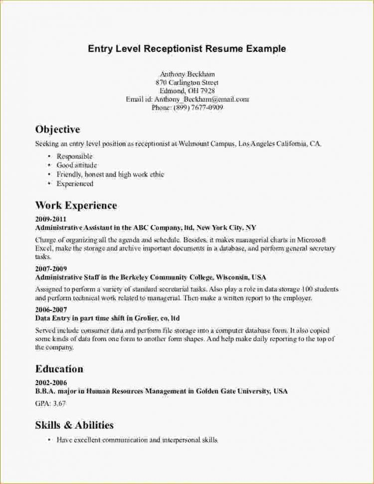 File Clerk Resume Objective Examples. cover letter front desk ...