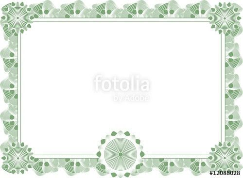 """blank certificate template"""" Stock image and royalty-free vector ..."""