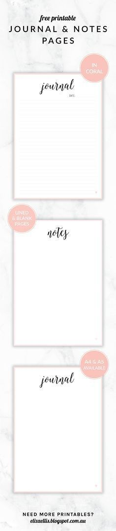 Free Printable Lined Notebook Paper | Free printable, Journal and ...