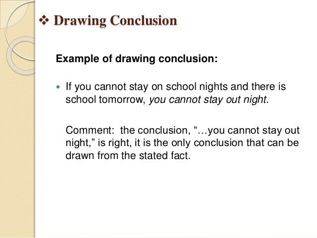 drawing conclusion & predicting outcomes