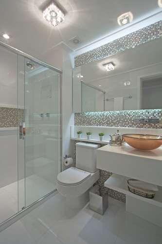 Gabinetes Para Baño Cali:Cuarto de baño con colores delicados Los nichos en la mampostería