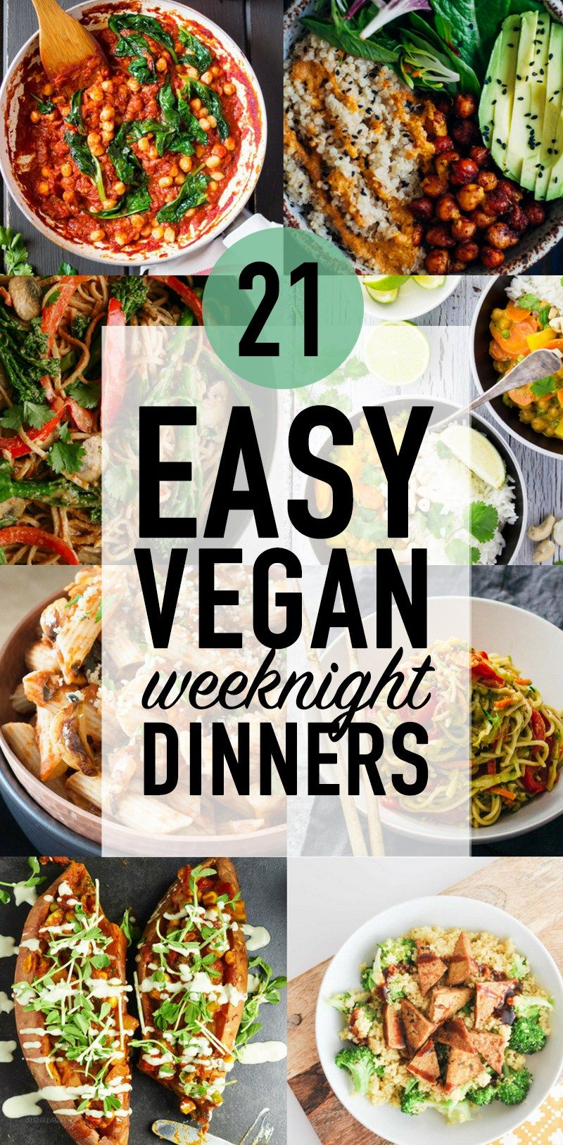 21 Easy Weeknight Dinners for