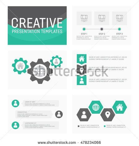 Vector Template Presentation Slides Graphs Charts Stock Vector ...