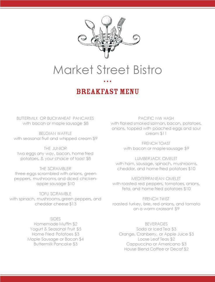 7 best menu ideas images on Pinterest | Menu templates, Breakfast ...