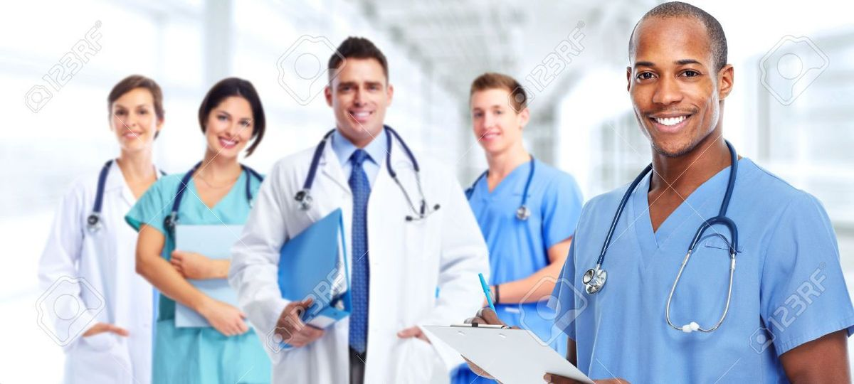 Group Of Professional Doctors. Health Care Medical Background ...