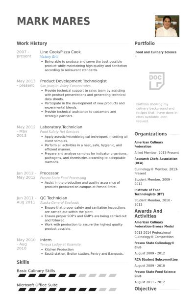 Resume Sample For Cook 19 Chef Resume Template Executive Chef ...
