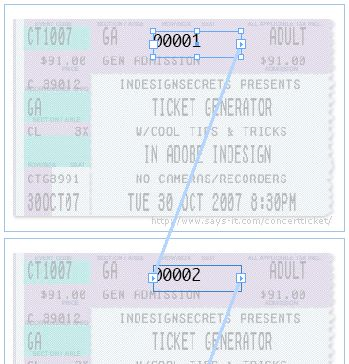 Making Numbered Tickets from InDesignSecrets.com : InDesignSecrets