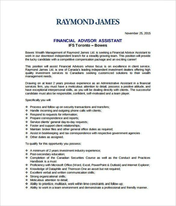 Personal Finance Advisor Resume Sales Lewesmr Within 25 Marvelous ...