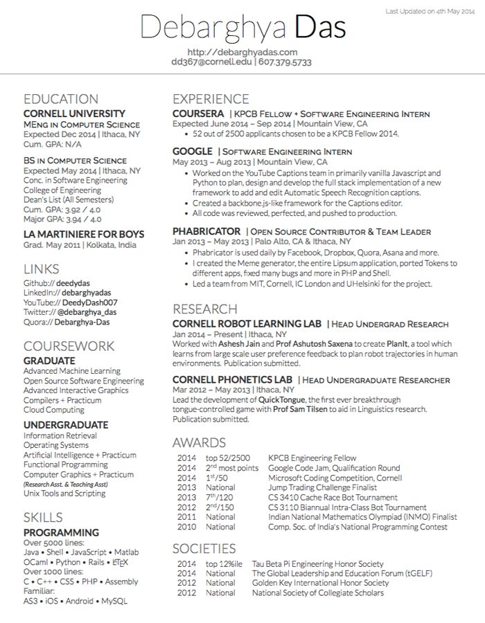 Shocking Ideas Resume Template Latex 7 CV Or Resume - Resume Example