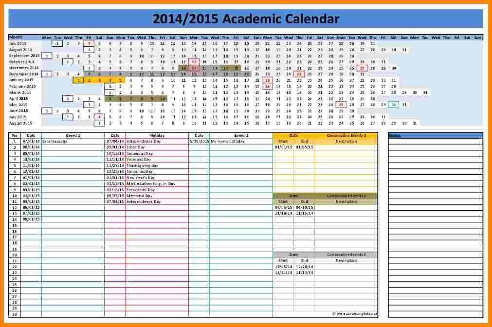 2014 Excel Calendar Template - Contegri.com