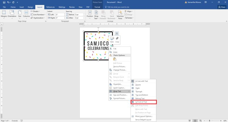 DIY Branded Thank You Cards with Microsoft Word - DIY Just Cuz