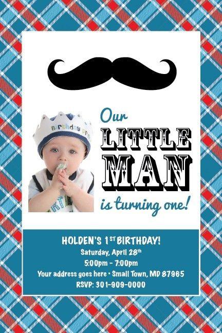 Little Man Birthday Invitations | christmanista.com