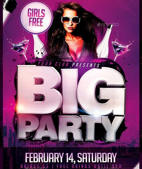 39+ Party Flyer Templates - Free PSD, EPS Format Download! | Free ...