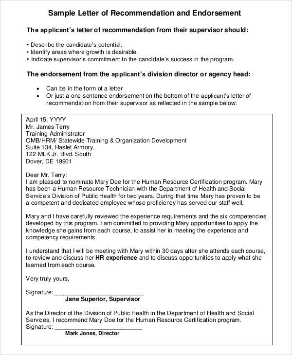 Sample Letter of Recommendation For Employment - 7+ Examples in ...