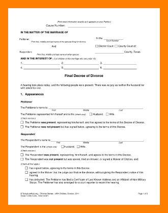 6+ printable divorce papers | resumes great