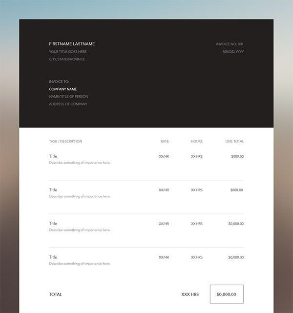 Illustrator Invoice Template - Best Resume Collection