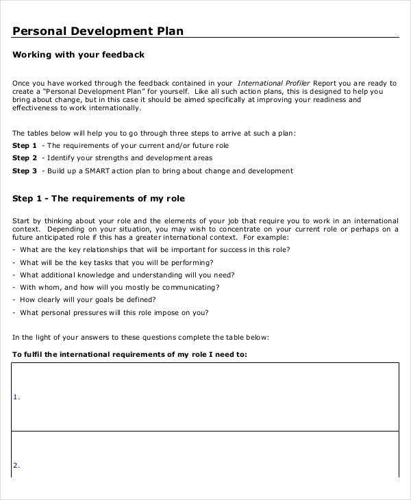 10 Personal Development Plan Templates -Free Sample, Example ...