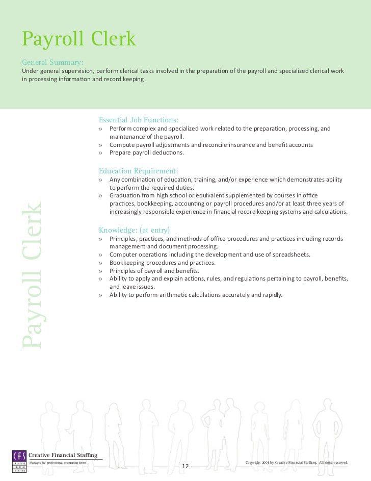 Accounting & Finance Job Descriptions