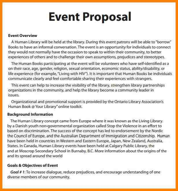 4+ event planning proposal sample | resume language