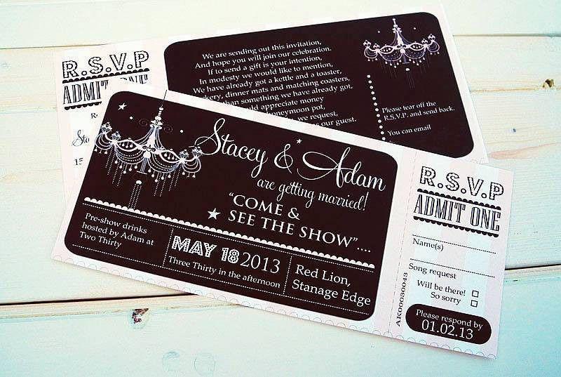 Theatre Wedding Invitations: [cheap wedding invitations]