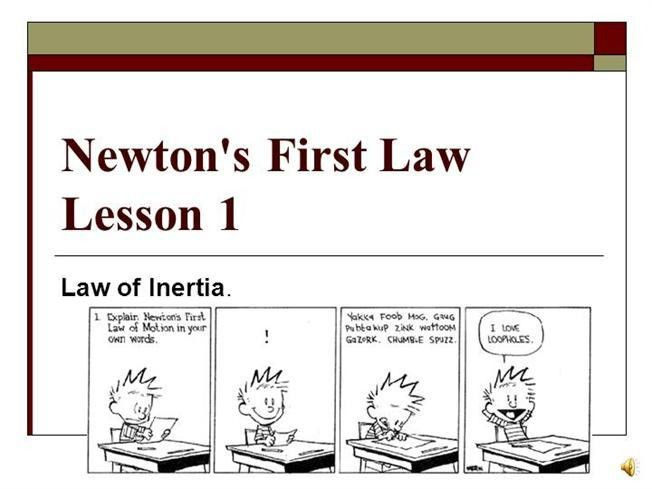 Newton's First Law 2012 |authorSTREAM