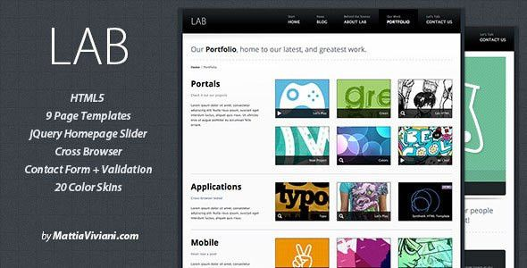 54 Beautiful HTML5 Portfolio Website Templates | Web & Graphic ...