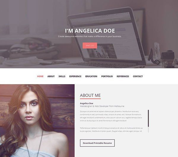 Personal Resume Website. 15 best html5 vcard and resume templates ...