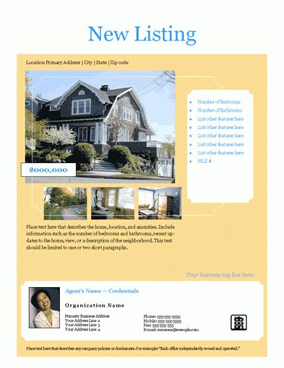 Free Real Estate Flyers   Free Flyer Templates