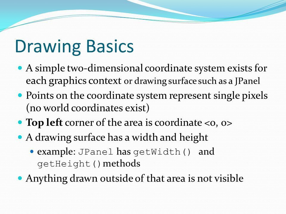 Java Drawing in 2D Animations with Timer Jan SmrcinaReferences ...
