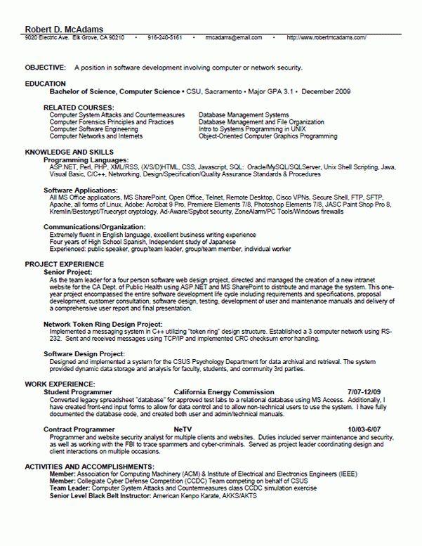 Select a Résumé format