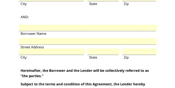 Car Loan Agreement Sample Car Loan Agreement Sample Employee Loan ...