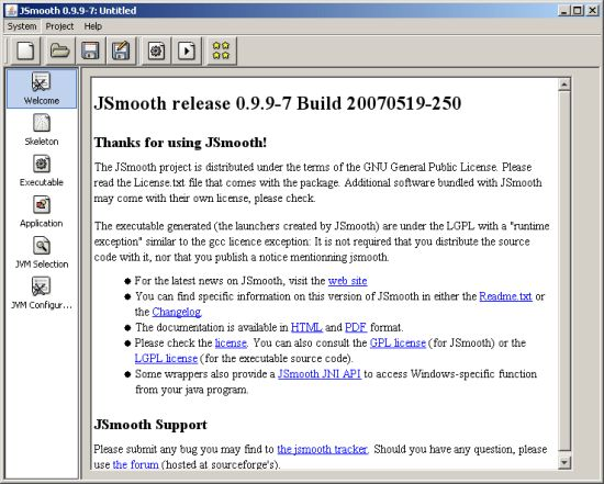 JSmooth 0.9.9-7 User Manual