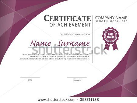 Royalty-free Certificate template,diploma layout,A4… #343896938 ...