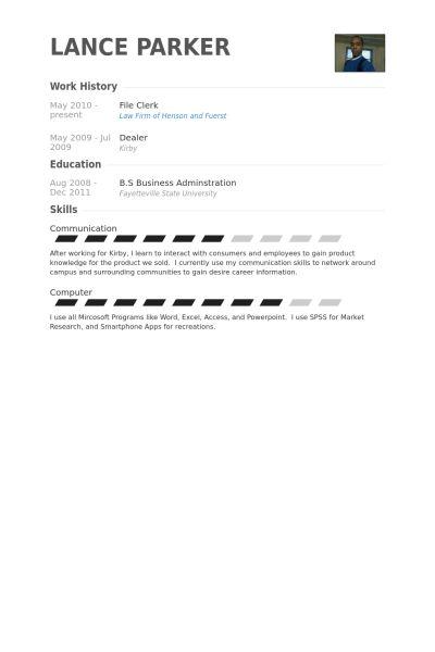 File Clerk Resume Sample | haadyaooverbayresort.com