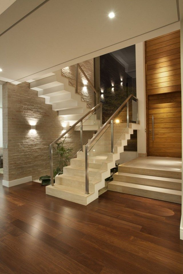 Escada casa Pinterest Modern stairs design, Metal railings and - maison grise et blanche