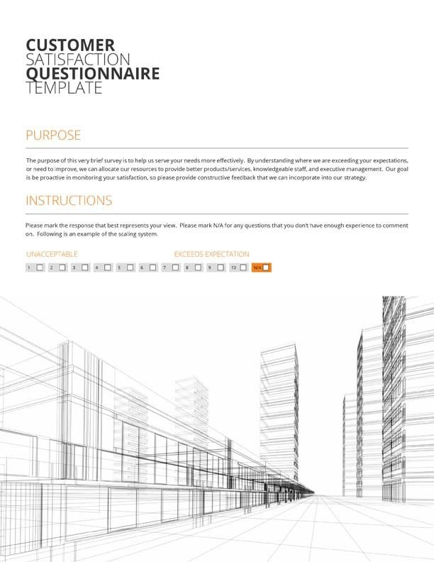 Questionnaire Template Pages - Contegri.com
