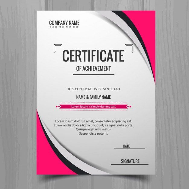 Modern certificate template Vector | Free Download