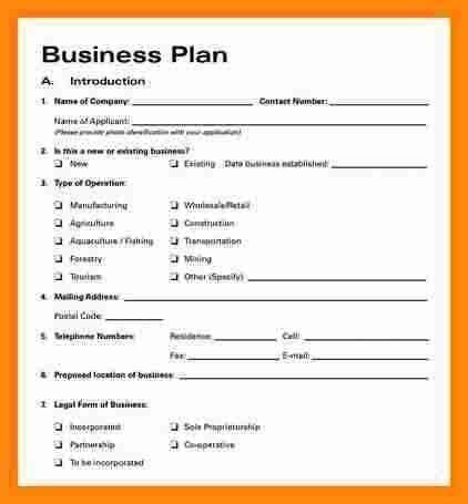 5+ simple business plan template word | model resumed
