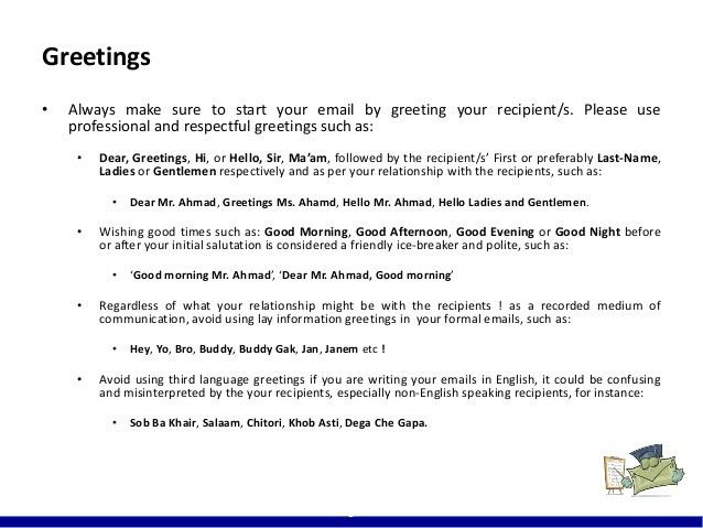 Email Ettiquette (Javid Hamdard)